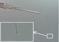 s shape glass micropipette